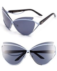 Dior Women'S 'Audacieuse 1' 72Mm Butterfly Sunglasses - Military Blue - Lyst