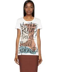 Burberry Prorsum White Adventure T_shirt - Lyst