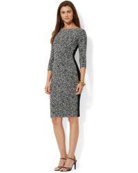Lauren by Ralph Lauren Printed Jersey Dress - Lyst