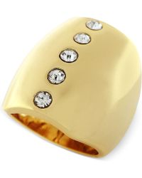 Vince Camuto - Gold-tone Crystal Dome Ring - Lyst