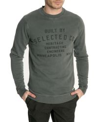 Selected Faded Grey Sweater - Lyst