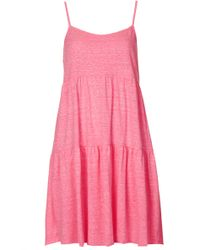 Topshop Womens Tall Tiered Tunic Pink - Lyst