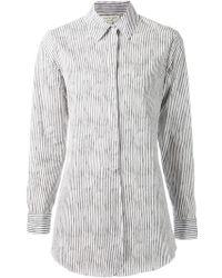 Rag & Bone Striped Boyfriend Shirt - Lyst