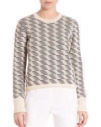 Tory Burch | Textured Stretch-wool Sweater | Lyst