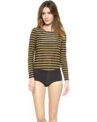 Morgan Lane Astrid Frankie Bodysuit - Goldnoir - Lyst
