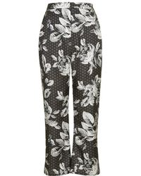 Topshop Geo-Rose Print Slim Flares By Boutique - Lyst