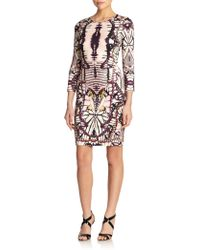 Just Cavalli Printed Long-Sleeve Jersey Dress - Lyst