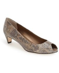 Vaneli 'Baxter' Peep Toe Pump brown - Lyst