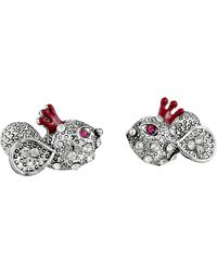 Betsey Johnson Woodland Mouse Stud Earrings - Lyst