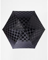 Lulu Guinness Ascot 2 Jumbo Dot Umbrella black - Lyst