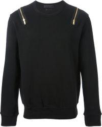Alexander McQueen Zip Sweatshirt - Lyst
