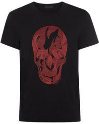 Alexander McQueen Mixed Print Skull T-Shirt - Lyst