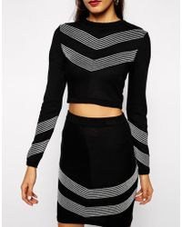 Asos Co-Ord Jumper With Metallic Detail - Lyst