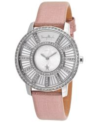 Thierry Mugler Women'S Pink Genuine Leather Silver-Tone Dial - Lyst