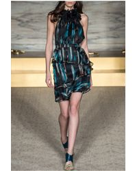 Matthew Williamson | Embroidered Ruffle Cocktail Dress | Lyst