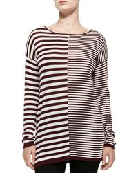 T By Alexander Wang Long-sleeve Combo Stripe Tee - Lyst