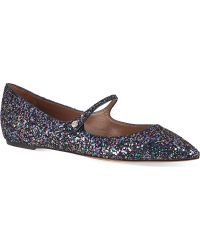 Tabitha Simmons Hermione Glitter Mary Janes - Lyst