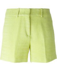 Ermanno Scervino Textured Shorts - Lyst