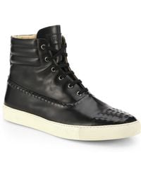 Alexander McQueen Studded Leather Hightop Sneakers - Lyst
