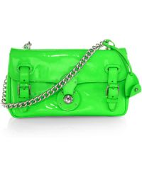 Ralph Lauren Collection Ricky Patent Leather Shoulder Bag - Lyst