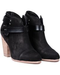 Rag & Bone Harrow Nubuck Booties - Lyst