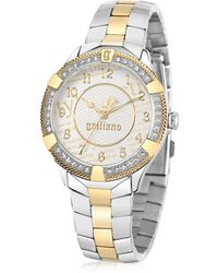 John Galliano - The Costumier Two Tone Stainless Steel Crystal Women'S Watch - Lyst
