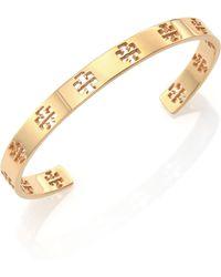 Tory Burch Pierced T Cuff Bracelet/Goldtone - Lyst