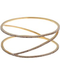 Rachel Zoe Glitz 12K Gold Plated Spiral Bangle Bracelet gold - Lyst