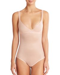 Wolford Sheer Touch Forming Bodysuit pink - Lyst