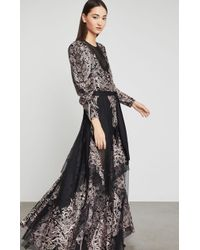 BCBGMAXAZRIA - Bcbg Embroidered Tulle Maxi Dress - Lyst