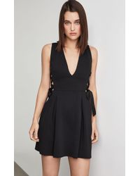 fc06483ff70 BCBGMAXAZRIA Bcbg Caryn Wrap Vest Dress in Black - Lyst
