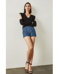 BCBGMAXAZRIA - Bcbg Chambray Pull-on Short - Lyst