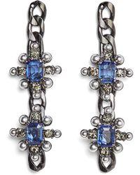 BCBGMAXAZRIA - Bcbg Chain Spike Earring - Lyst