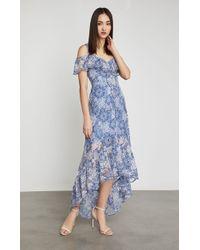 BCBGMAXAZRIA - Bcbg Debbie Floral Lace Midi Dress - Lyst