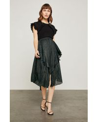 BCBGMAXAZRIA - Bcbg Metallic Asymmetrical A-line Skirt - Lyst