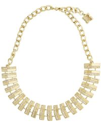 BCBGMAXAZRIA | Pave Track Necklace | Lyst