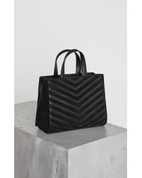 BCBGMAXAZRIA - Bcbg Izabella Chevron Leather Satchel - Lyst