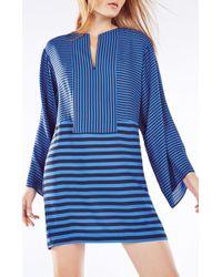 BCBGMAXAZRIA - Amilia Kimono-sleeve Stripe-blocked Dress - Lyst