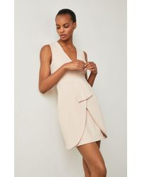 BCBGMAXAZRIA - Clare Sleeveless Draped-skirt Dress - Lyst