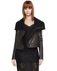 BCBGMAXAZRIA - Ariane Leather Wrap Coat - Lyst