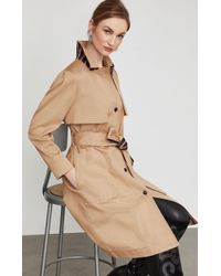 BCBGMAXAZRIA - Bcbg Belted Long Trench Coat - Lyst
