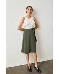 BCBGMAXAZRIA - Bcbg Meya Chambray Wrap Skirt - Lyst