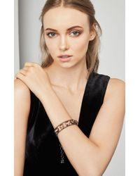 BCBGMAXAZRIA - Double Chain Stone Bracelet - Lyst