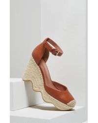 BCBGMAXAZRIA - Abell Leather Wedge Espadrilles - Lyst