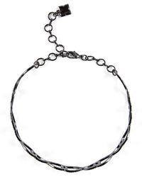 BCBGMAXAZRIA - Bcbg Pave Looped Choker Necklace - Lyst