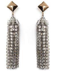 BCBGMAXAZRIA - Stone Tassel Earring - Lyst