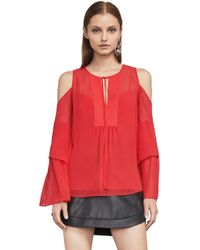 BCBGMAXAZRIA - Bcbg Jalena Cold-shoulder Top - Lyst
