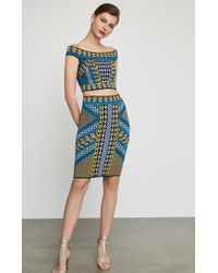 BCBGMAXAZRIA - Geometric Body - Con Skirt - Lyst