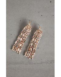 BCBGMAXAZRIA - Bcbg Stone Tassel Earrings - Lyst