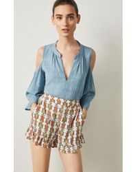 BCBGMAXAZRIA - Bcbg Turtle Print Pull-on Short - Lyst